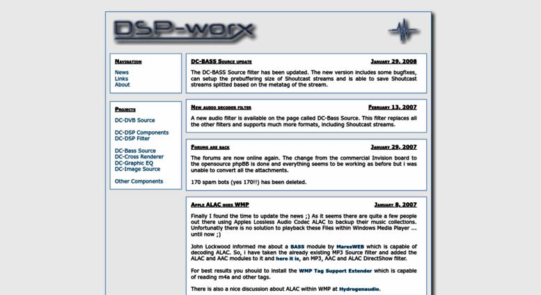 Access dsp-worx de  DSP-worx - Digital Signal processing in Delphi