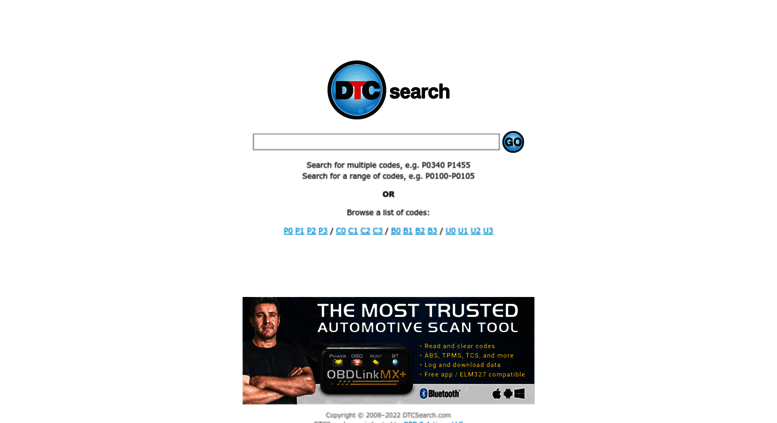 Access dtcsearch com  DTCsearch com - Search Engine for OBD-II