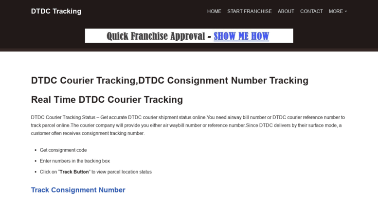 Access dtdc-tracking in  DTDC Courier Tracking,DTDC