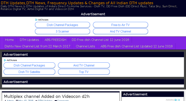 Access dthupdates info  DTH Updates,DTH News, Frequency