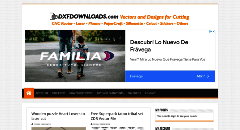 Access dxfdownloads com  DXF DOWNLOADS – Files for Laser Cutting and