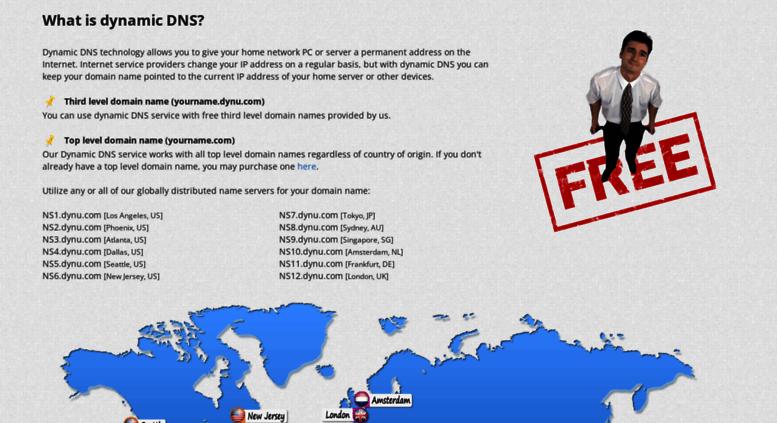 Access dynu net  Free dynamic DNS service | Dynu Systems, Inc
