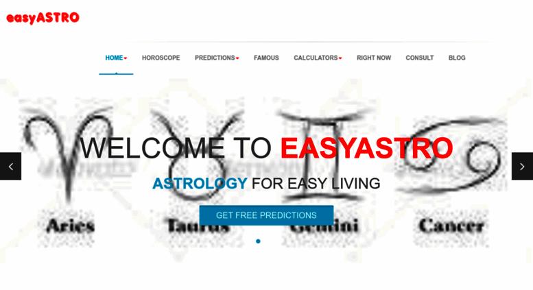 Access easyastro com  FREE Astrology Predictions, Horoscope