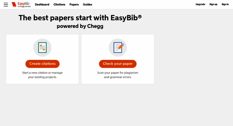 Access Easybib EasyBib Free Bibliography Generator
