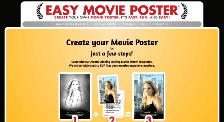 access easymovieposter com easy movie poster the award winning