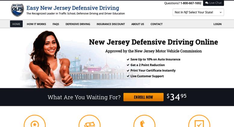 Online Defensive Driving Course Nj >> Access Easynjdefensivedriving Com Easy New Jersey Defensive
