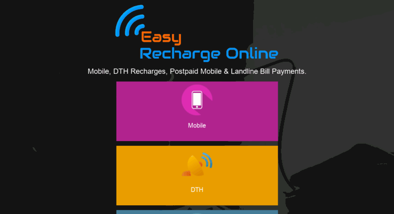 Access easyrechargeonline com  Easy Recharge Online| DTH