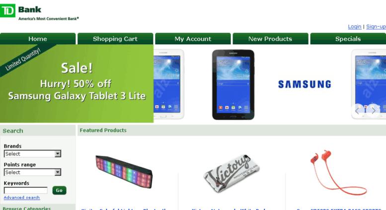 Access easyrewards tdbank com  TD Easy Rewards - Shop with