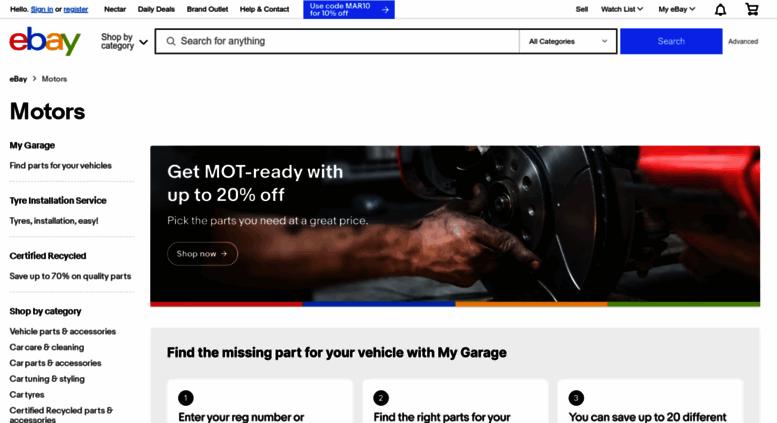 Access Ebaymotors Co Uk Motors Products For Sale Ebay