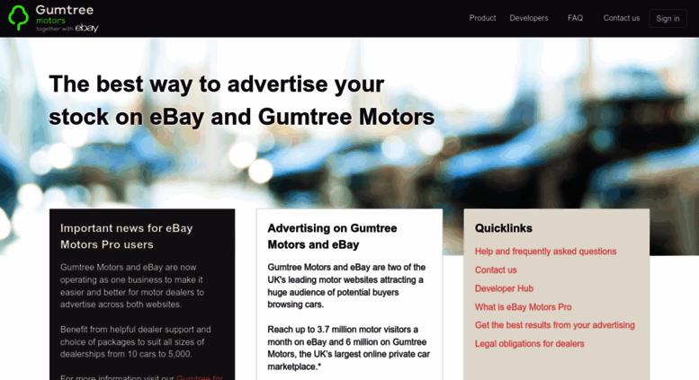 Access Ebaymotorspro Co Uk Sell New Or Used Cars On Ebay Motors Pro