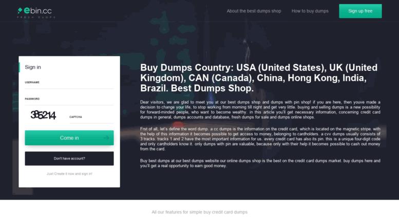 Access ebin cc  Dumps Shop Ebin cc - Buy Dumps Fresh, Cheap, Quality