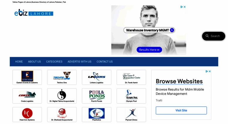 Access ebizlahore com  Yellow Pages of Lahore   Pakistan Business
