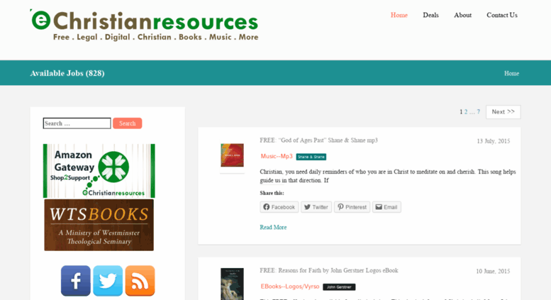 Access echristianresources com  eChristianResources – Your