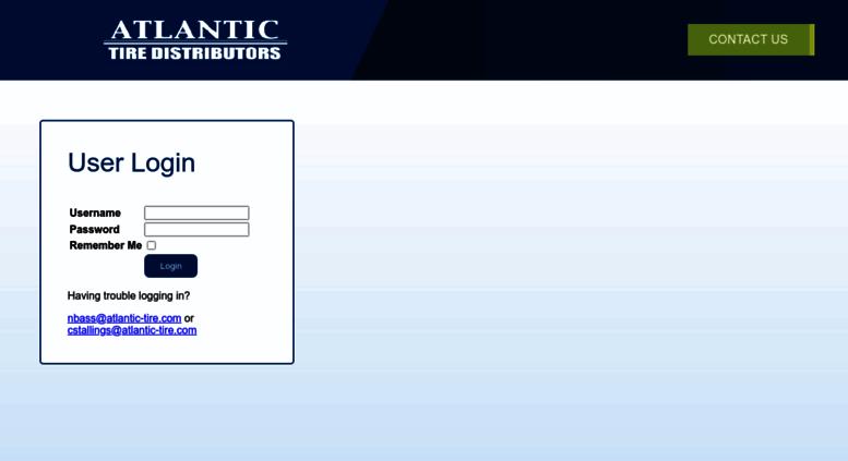 Access Ecommerce Atlantic Tire Com Atlantic Tire Distributors Login