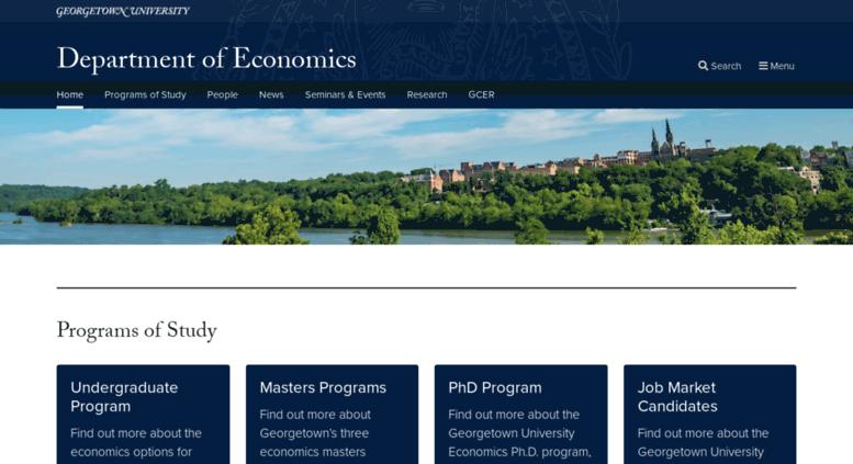 Access Econ Georgetown Edu Department Of Economics Georgetown