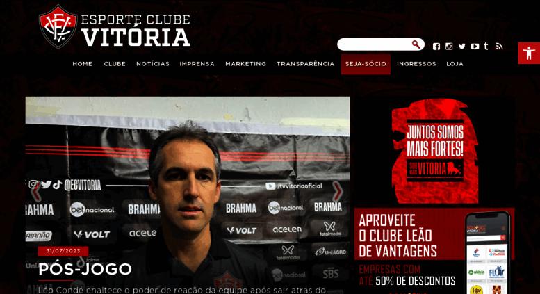 80da333334f89 Access ecvitoria.com.br. Esporte Clube Vitória - Site Oficial