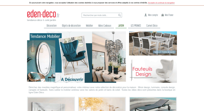 Access eden-deco.fr. Boutique Décoration en ligne maison et ...