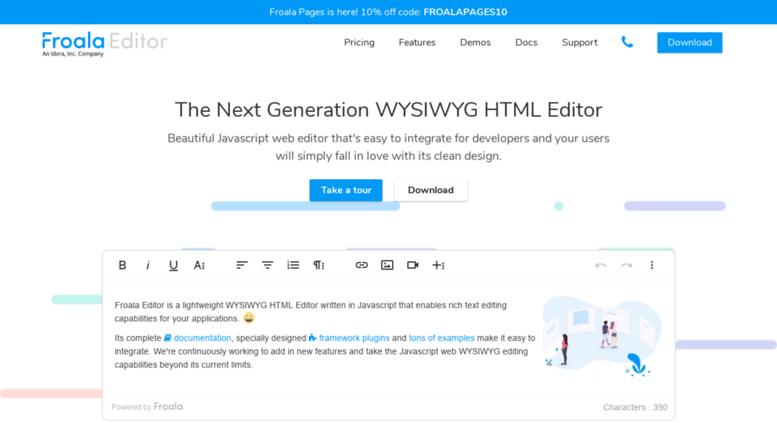 Access editor froala com  Beautiful WYSIWYG HTML Editor