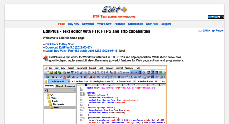 Access editplus com  EditPlus - Text editor with FTP, FTPS and sftp