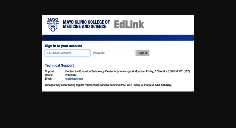 Access edulink mayo edu  Login with Ellucian Ethos Identity
