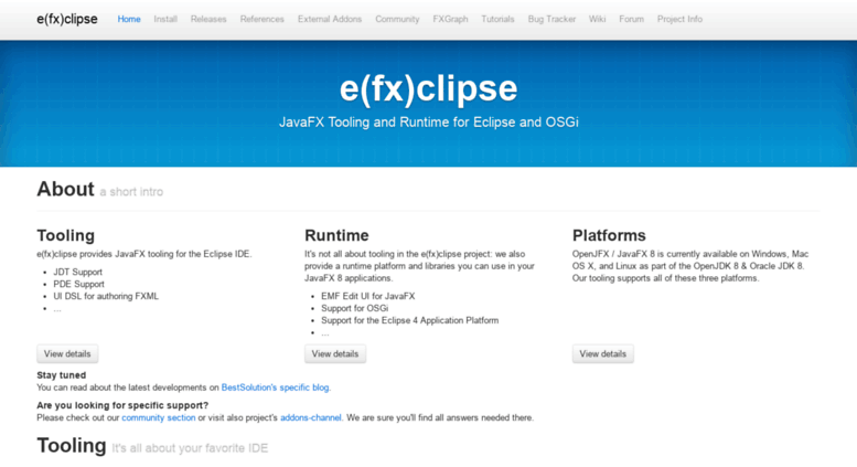 Access efxclipse org  e(fx)clipse - JavaFX Tooling and
