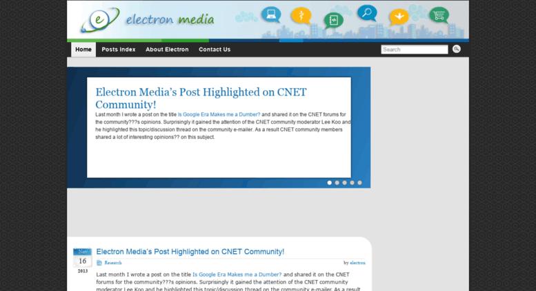 Access electronmedia in  Electron Media