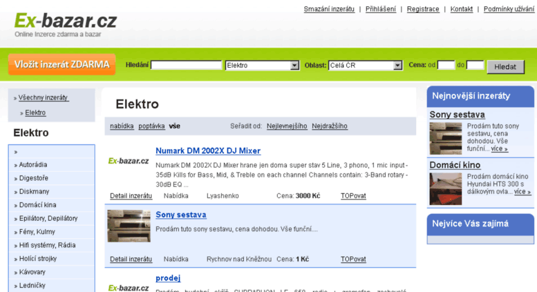 0702152f9 Access elektro.ex-bazar.cz. Elektro - Ex-bazar.cz