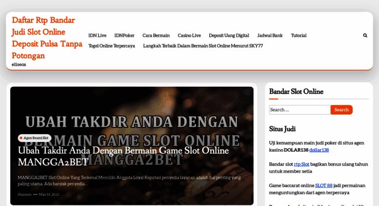 Access Eliseos Net Bandar Judi Slot Online Deposit Pulsa Tanpa Potongan Eliseos