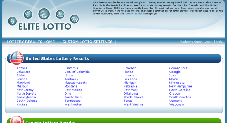 Access elite-lottery-results com  Lottery Results | Live