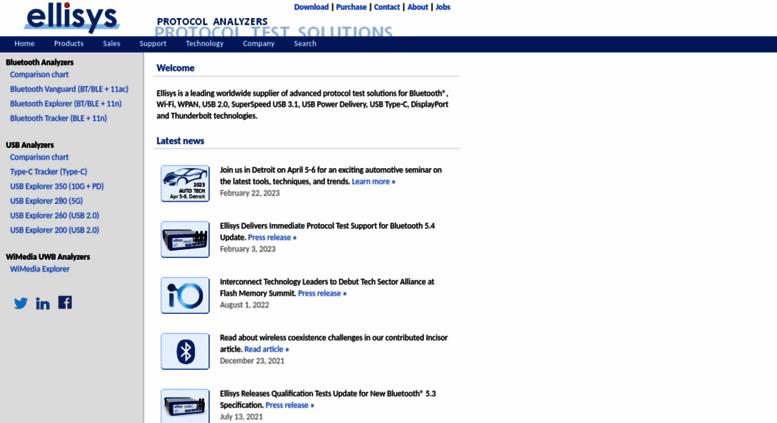 Access ellisys com  Ellisys - USB, Bluetooth and WiFi Protocol Test