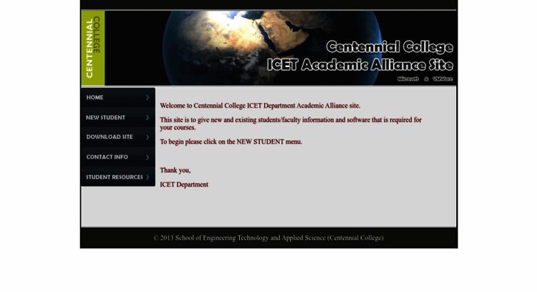 Access elms centennialcollege ca  Centennial College ICET