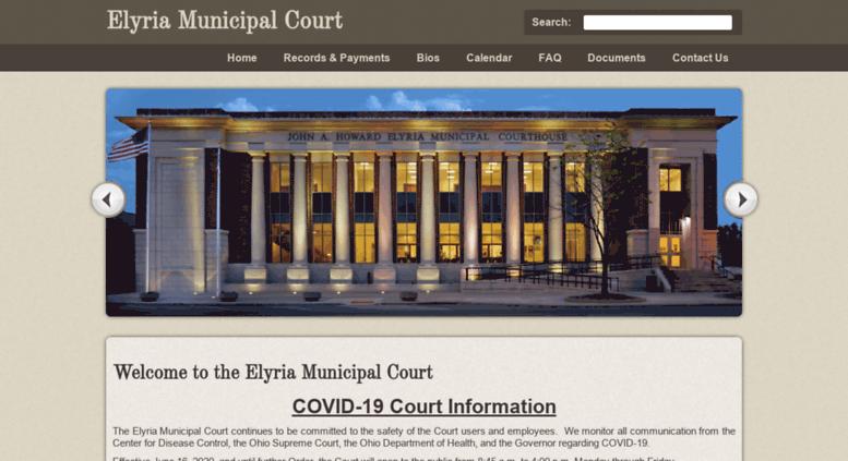 Access elyriamunicourt org  Welcome to the Elyria Municipal