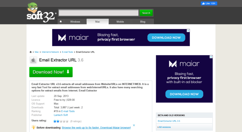 Access email-extractor-url soft32 com  Download Email Extractor URL