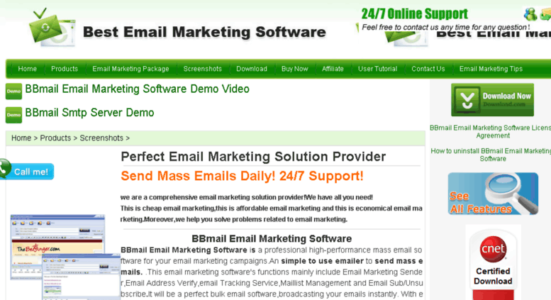 Access email-marketing-software4u com  BBmail Email Marketing