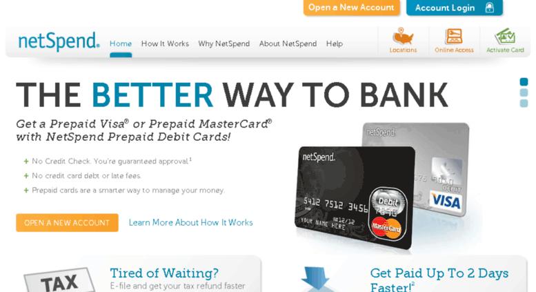 Access email-netspend com  NetSpend Prepaid Debit Cards