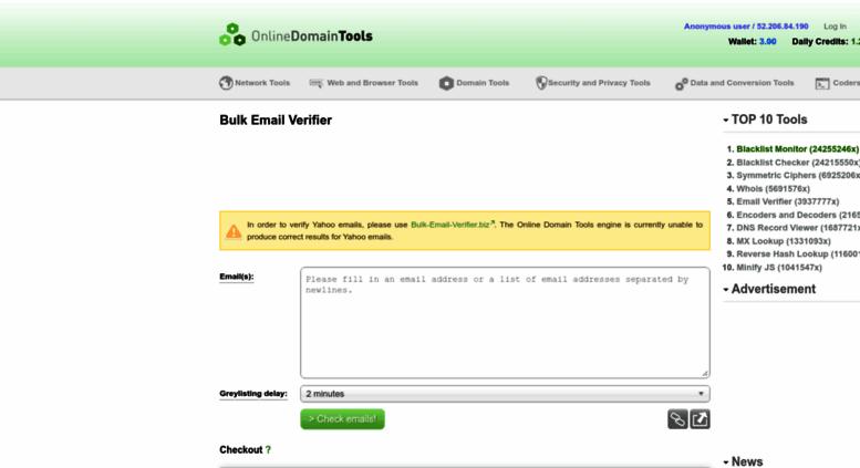 Access Email Verifier Online Domain Tools Com Email Verifier