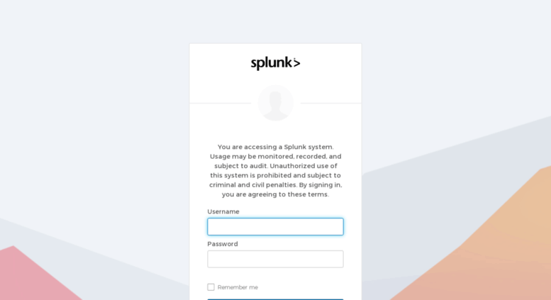 Access email splunk com  Splunk Inc - Sign In