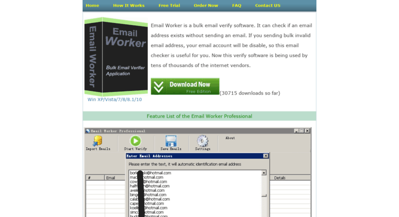 Access emailworker net  Email Worker: Bulk Email Verify