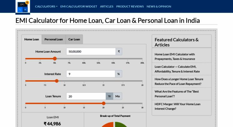 Access Emicalculator Net Emi Calculator For Home Loan Car Loan