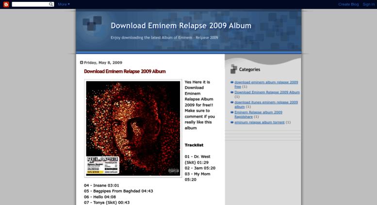 Relapse eminem download.