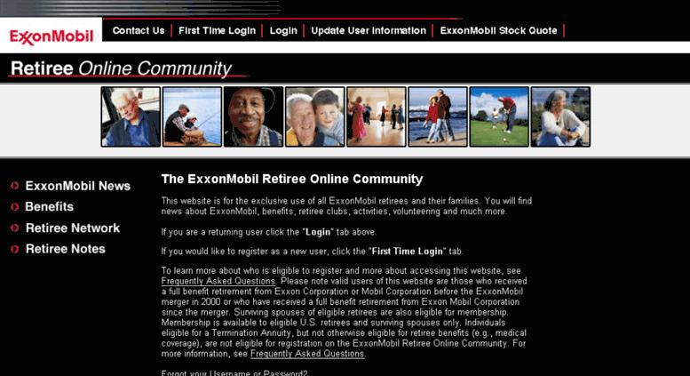 Access emretiree com  ExxonMobil Retiree Online Community