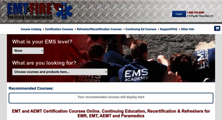 Access emtfiretraining com  All EMT Certification Courses