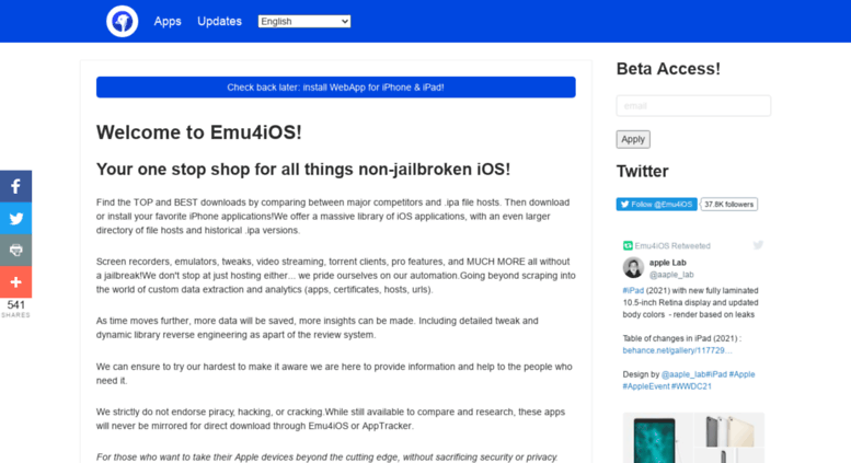 Access emu4ios net  Emu4iOS - iOS Emulators, No jailbreak or