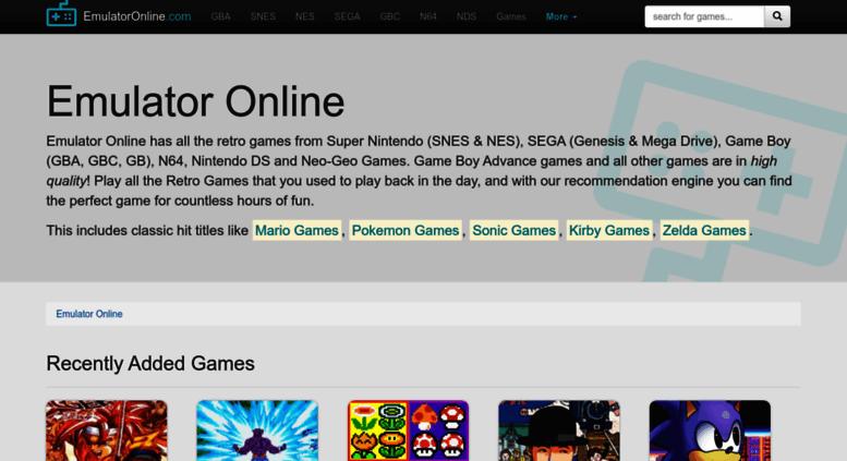 Access emulatoronline com  Emulator Online - Play Retro Games Online