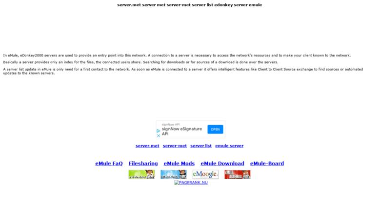 Access emule-server de  server met server met server-met