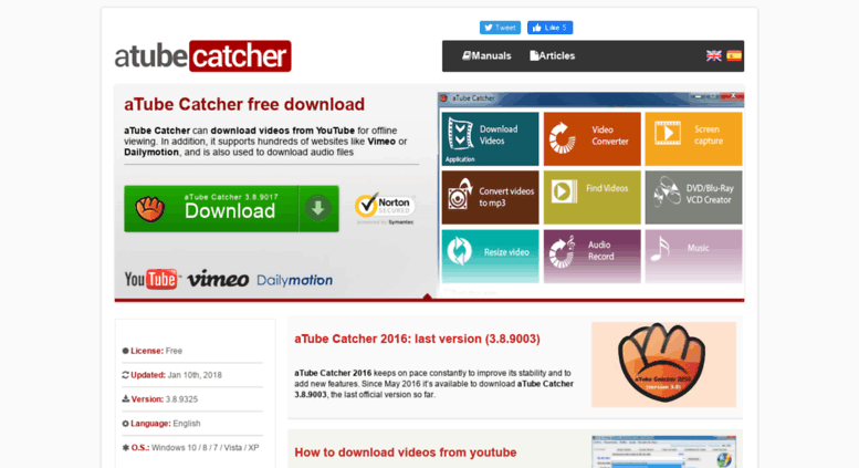 youtube catcher free download for windows xp