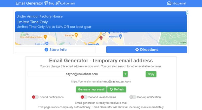 Access en generator email  Email Generator - temp mail, fake email