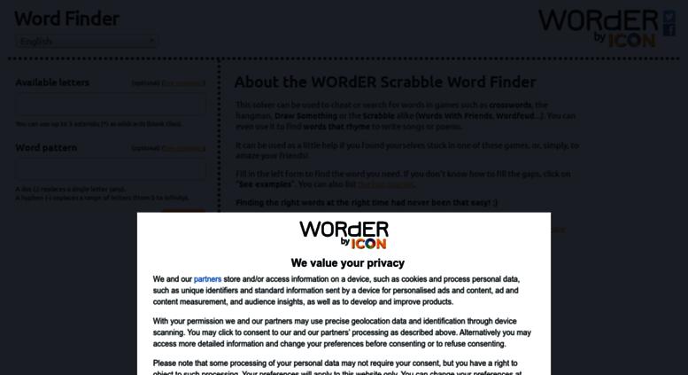 Access Enwordercat Worder Buscador De Palabras Y Trucos Para