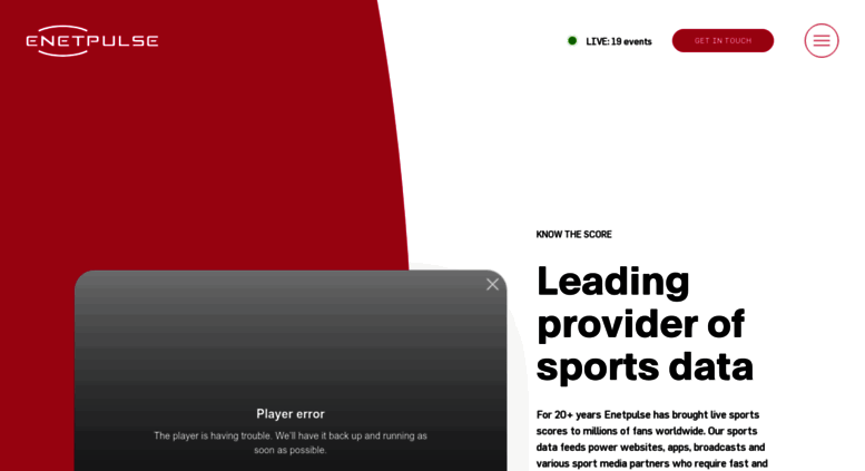 Access enetpulse com  Live Sports Data XML & API, and Odds