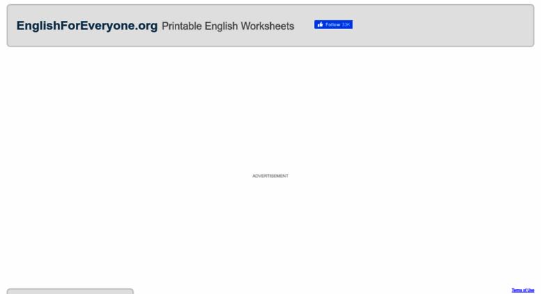 Access englishforeveryone org  English Worksheets